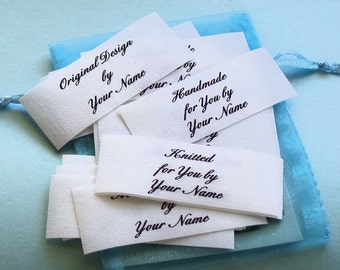 1 x 2 1/2 Inch Qty. 27 Cotton Fabric Sew On Labels