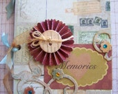 Mini Chipboard Memory Album -- Vintage Inspired