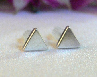 Silver Triangle Post Earrings