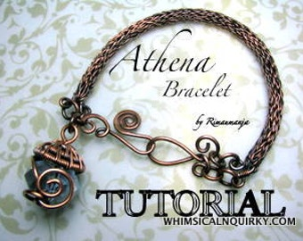 Athena Viking Knit bracelet and bead cap Tutorial