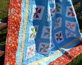 Lily Quilt, Patchwork Quilt, Queen Size NEW SALE PRICE