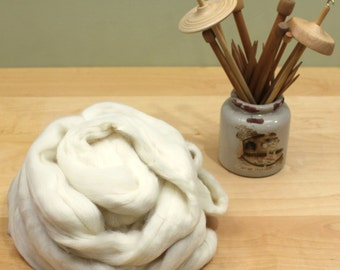 Polwarth Wool Top - Undyed Fiber for Spinning or Felting (8oz)