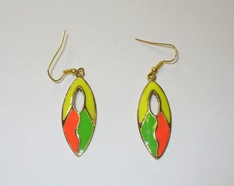 Vintage 80s Neon Earrings DEADSTOCK