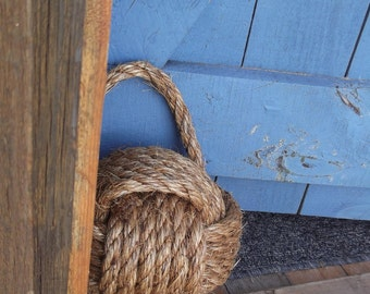 Rustic Doorstop with a Nautical Twist - under 45 - Nautical decor - matching doormat available