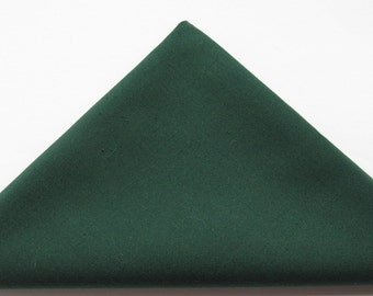 Green cotton fabric 11 inch or 28 cm square