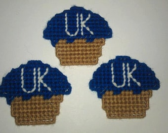 3 Handmade UK Wildcats Cupcake Magnets