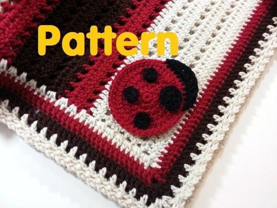 Pattern Crochet Baby Ladybug Receiving Blanket