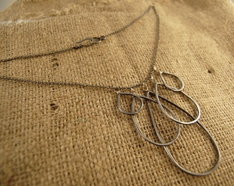 Steel drops - Hand forged steel necklace