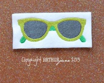 Sunglasses, INSTANT DOWNLOAD, Embroidery Design for Machine Embroidery 4x4