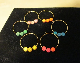 Wine Charms Gold 1