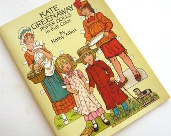 Vintage Paper Doll Book Kate Greenway In Full Color Kathy Allert 1980s