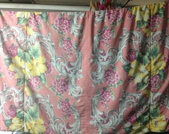 Vintage Floral Lap Blanket