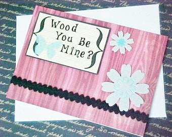 Handmade Faux Bois, Wood Grain Valentine