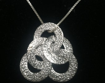 5 Circle Necklace in Fine Silver Wear it 3 Ways Plus FREE USPS fast shipping