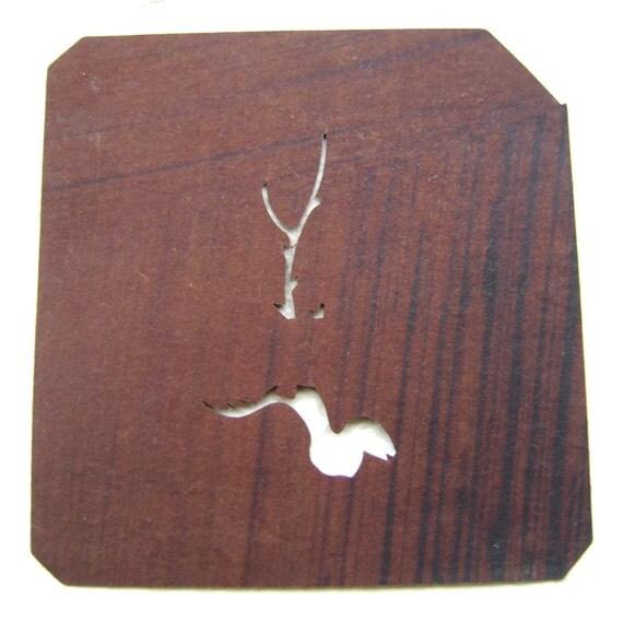 Japanese Stencil Vintage Stencil Snake Tree