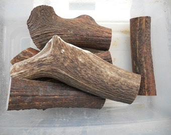 1 POUND of SPLIT Marrow Deer and Elk Antler Dog Chew Toys - Pick your Size