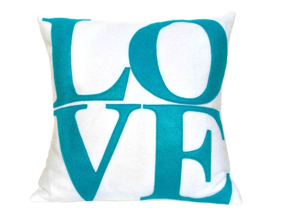 Peacock Love Eco-Felt Pillow Cover on Pure White - 18 inches
