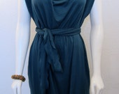 """The """"Silverlake"""" Cowl Drape Neck w/ Cinched Shoulder and Self Tie Belt"""
