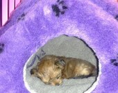 Doodle Dome Pet Bed -perfect for burrowing, snuggling, hiding out by Doodleubg Duds size small