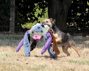 Doodlebug Dud's Super Deluxe Dog Toy - Large Spider - All Eight Legs Squeak And The Eyes and Nose Squeak Too