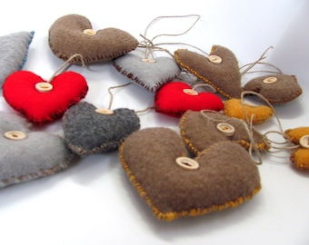 Lev -------- Felt  Heart----Holiday gift---Valentine's Day