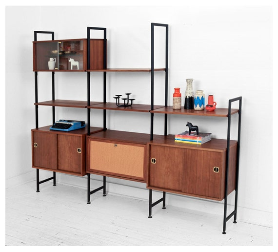 modular shelving units items similar to vintage modular wall unit mid 23604