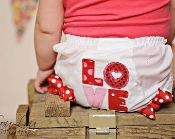 LOVE Valentine's Day Boutique Bow Diaper COVER BLOOMERS  Newborn Infant Toddler Big Girl Valentine's Day Bloomers