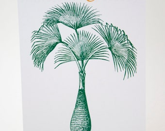 Tropical Trees - Beach Wedding Palm Tree Table Number Cards