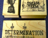 Athletics - Sports - Basketball - Football - Set of 3 New WM Rubber Stamps - Cards - Collage - Scrapbooks - FREE Shipping