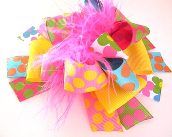 Flower Hair Bows - Over the top Flower Power Bow