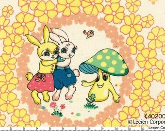 Japanese, Lecien, Pitic Pitica, 4 Girls Collection, Pink, Yellow and Blue, 40200-80, 1 Panel