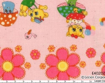 Japanese, Lecien, Pitic Pitica, 4 Girls Collection, Animal Friends in a Row, Double Gauze, 40202-20, 1/2 Yard