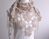 PDF CROCHET PATTERN, pattern for scarf, shawl, Beige, Crochet Scarf,  Tutorial, Shawl