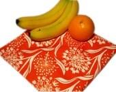 Dandelions on Orange Large Resuable Bag
