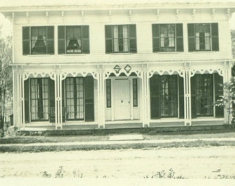 SC Fraternity Frat House Antique Vintage Black White Photo Photograph