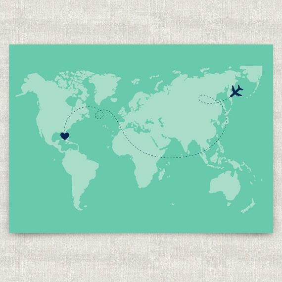 Wedding Invitations For Destination Wedding: International Modern Destination Wedding Invitation With
