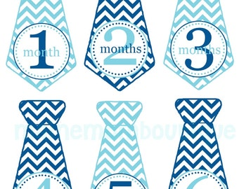 FREE GIFT, Baby Month Stickers, Monthly Baby Boy Tie Stickers, Baby Boy Milestone Stickers Bodysuit Stickers Baby Stickers uncut