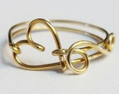 Heart Love Ring - Gold Love Ring - 14K Gold Filled Love Ring  - Friendship Ring - Bridesmaid Jewelry - Valentines Gift - Etsy Jewelry