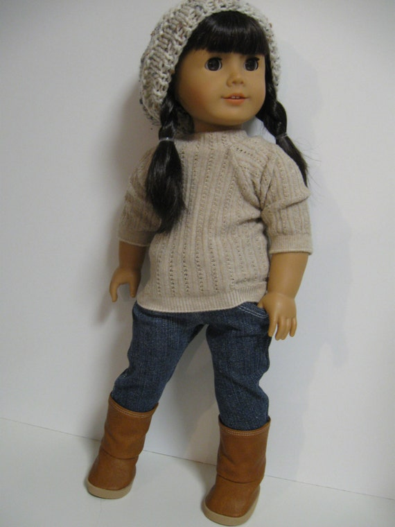 American Girl Doll Clothes -- Natural three piece
