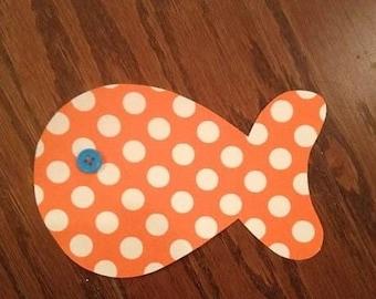 Goldfish Iron On Applique, You Choose Fabric