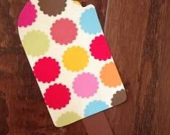 Popsicle Iron On Applique, You Choose Fabric