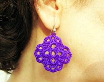 PDF Tutorial Crochet Pattern...Dangle Earrings -18