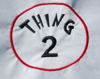 Thing Two Dr. Suess Iron On Applique Patch