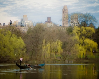 Central Park Print, New York Photo Lake Gondola Photograph Nyc Photography Manhattan Dreamy Spring nyc39