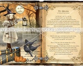Primitive Halloween Cabinet Card - Moonlight Sonata