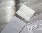 "200pcs Clear Self Sealing Cello Poly Bag Envelope  1 3/16 X 6 3/8"" (30mm X 160mm) and 1 5/8(flap)"