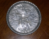 Vintage Aluminum Metal Coasters Set of Seven