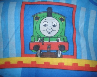 Thomas the Tank Engine TWIN Flat Sheet - Reclaimed Bed Linens