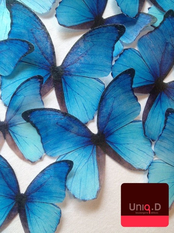 disney frozen birthday party - frozen edible butterflies - BUY 33 get 3 FREE - frozen edible cupcake toppers by Uniqdots on Etsy