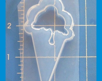 SALE Dripping Ice Cream Cone Flexible Plastic  Mold